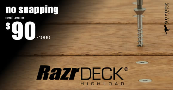 High Load Decking Screws from Scrooz