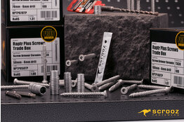Raptr screws multi-size kit with 6mm SDS drill