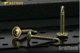 8g x 12mm Wafer Button Tech Screws Zinc pack 100