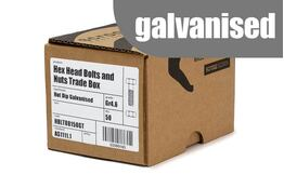 M12 x 40mm Hex Bolt & Nut GAL Trade Box of 50