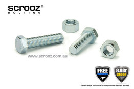 M8 x 65mm Setscrews BZP Grab Pack of 5