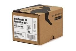 M6 x 40mm High Tensile Bolts BZP Trade Box of 100