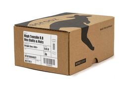 M16 x 180mm High Tensile Bolts BZP Trade Box of 25
