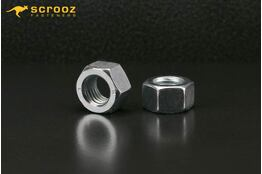 M8 hex nuts grade 8 bright zinc plated pack of 25