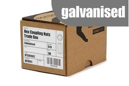 M10 Hex Coupling Nuts Grade 6 Galvanised box 50