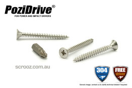 8g x 20mm PoziDrive Stainless MP Screws pack 100