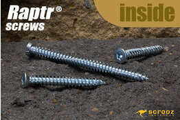 Raptr concrete screws 180mm grab pack of 10