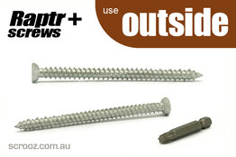 Raptr plus concrete screws 120mm grab pack of 20