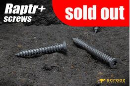 Raptr plus concrete screws 150mm grab pack of 20