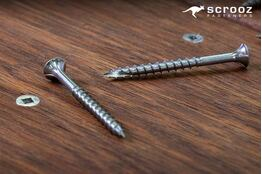 8g x 25mm RazrTrim 304 Stainless Screws pack 100