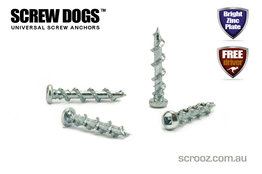 Screw Dogs Zinc Plated 8g x 32mm Grab Pack of 100