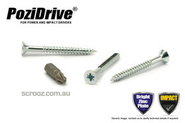 10g x 65mm PoziDrive twinthread Screws CSK pack 100