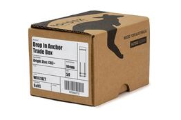 Drop in Anchors BZP M10 x 40mm trade box of 50