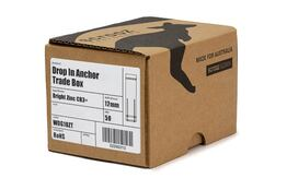 Drop in Anchors BZP M12 x 50mm trade box of 50