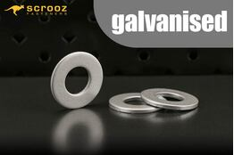 M8 plain flat washers galvanised grab pack 100