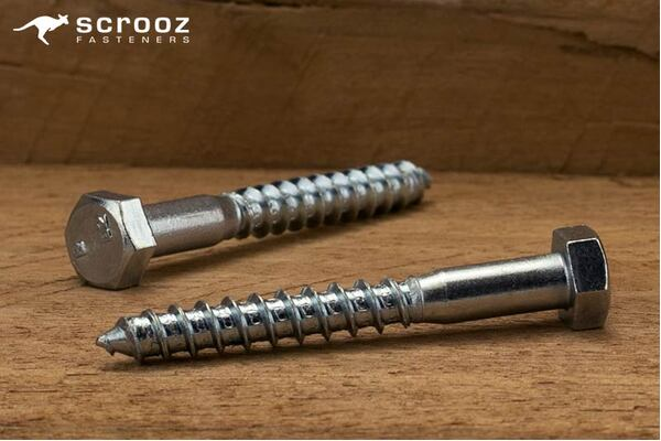 M8 x 90mm Coach Screws Zinc Plated Grab pack 20