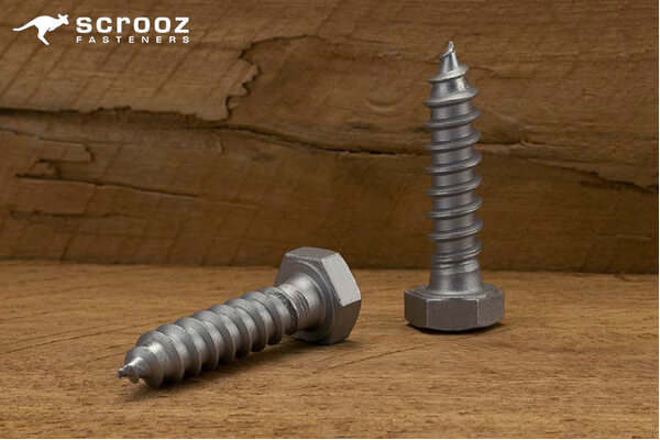 M10 x 65mm Coach Screws Galvanised Grab pack 20