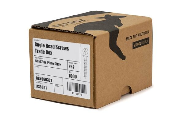 6g x 45mm Bugle Drywall Screws Fine box of 1000