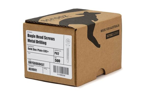 6g x 45mm Self Drill Drywall Screws Box of 1000