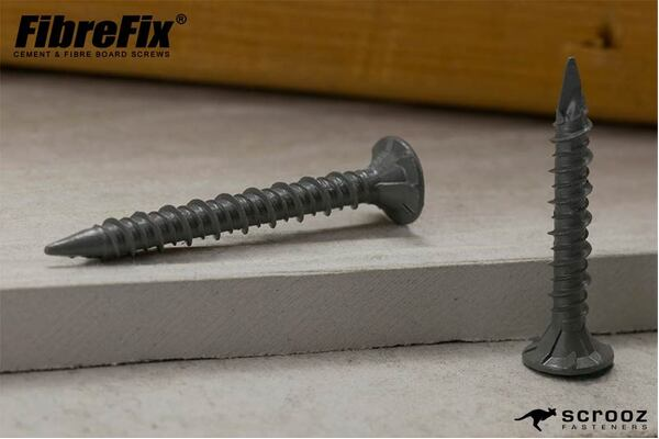8g x 42mm FibreFix Cement Board Screws pack 100