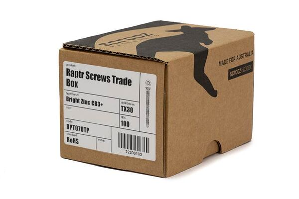 Raptr concrete screws 50mm trade box of 100