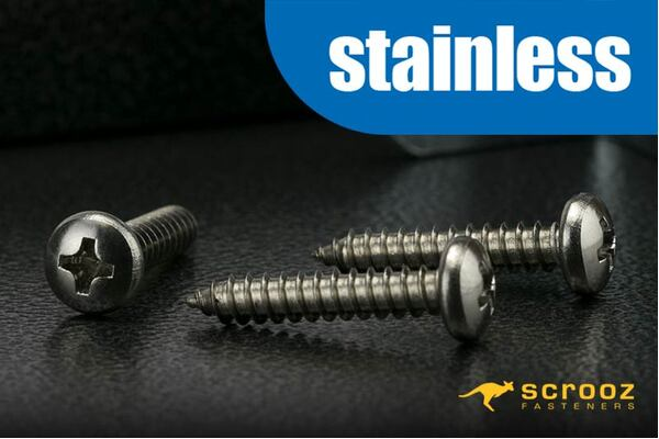 10g x 12mm 304 Stainless Self Tap PAN pack 100