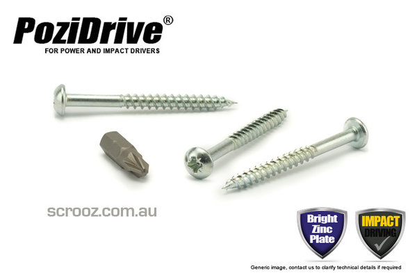 8g x 25mm PoziDrive Twinthread Screws Pan pack 100