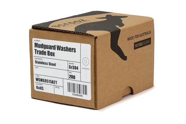 M10 x 30mm Penny washers stainless 304 box 200