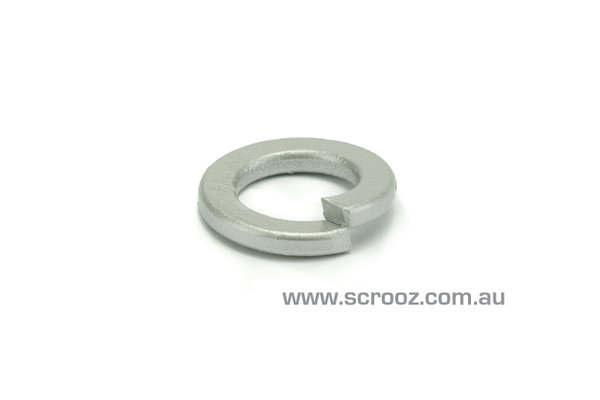 M12 spring washers galvanised grab pack of 50