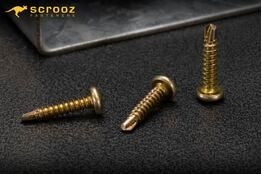 8g x 20mm Panhead Metal Tech Gold Zinc Pack 100