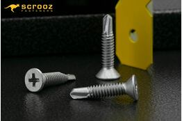 8g x 30mm Metal Tech CSK Ribbed Galv pack 100