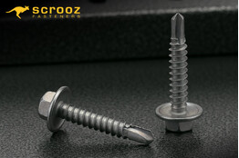 12g x 25mm Metal Tech Screws CL4 Hex pack 100