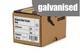 M12 nylock nuts grade 6 galvanised box 100