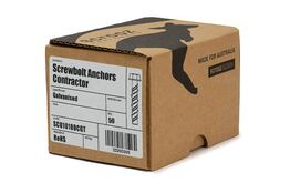 Screw Bolts Contractor Gal 8 x 50mm box 50