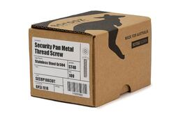 Security Pan Metal Thread ST40 M8 x 40mm Box 100