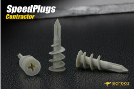 SpeedPlug contract plaster fixing plastic pack 100
