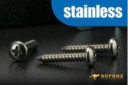 6g x 12mm 304 Stainless Self Tap PAN pack 100
