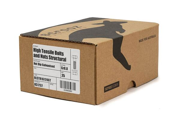 M20 x 40mm Structural Bolts GAL Trade Box of 25
