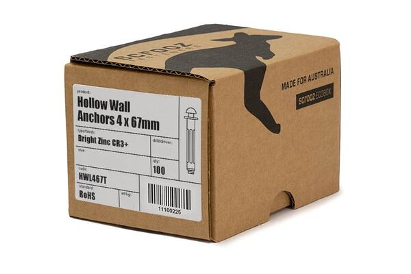 Hollow Wall Anchors 6 x (5-18) 59mm trade box 100